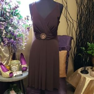 Buckle Dress with Scarf